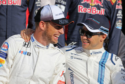 Jenson Button, McLaren F1 and Felipe Massa, Williams F1 Team