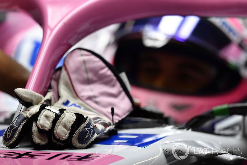 Los guantes Alpinestars de Sergio Perez, Force India VJM11