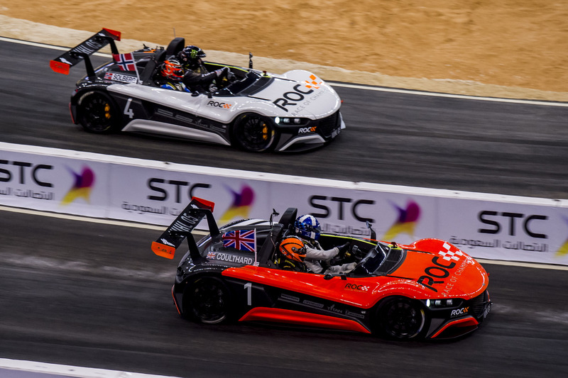 David Coulthard en Petter Solberg in de VUHL 05 ROC Edition
