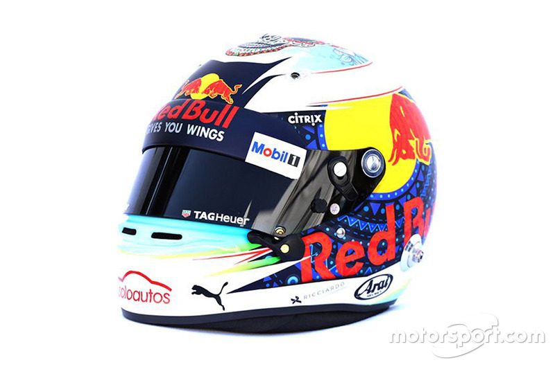 Daniel Ricciardo'un Meksika özel kaskı, Red Bull Racing