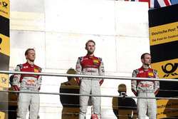 Champions Podium: Champion René Rast, Audi Sport Team Rosberg, Audi RS 5 DTM, second place Mattias E