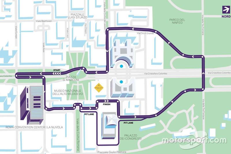 El circuito que usará la Fórmula E en su visita a Roma.