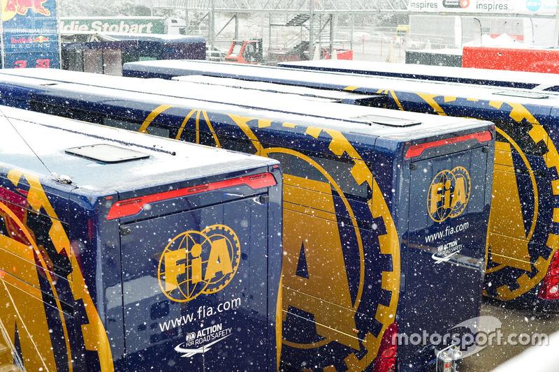 Nieve en la pista