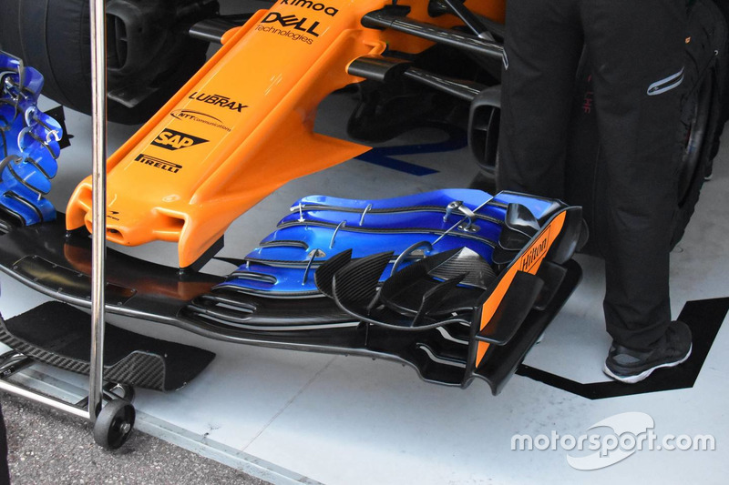 McLaren MCL33 front wing detail old version