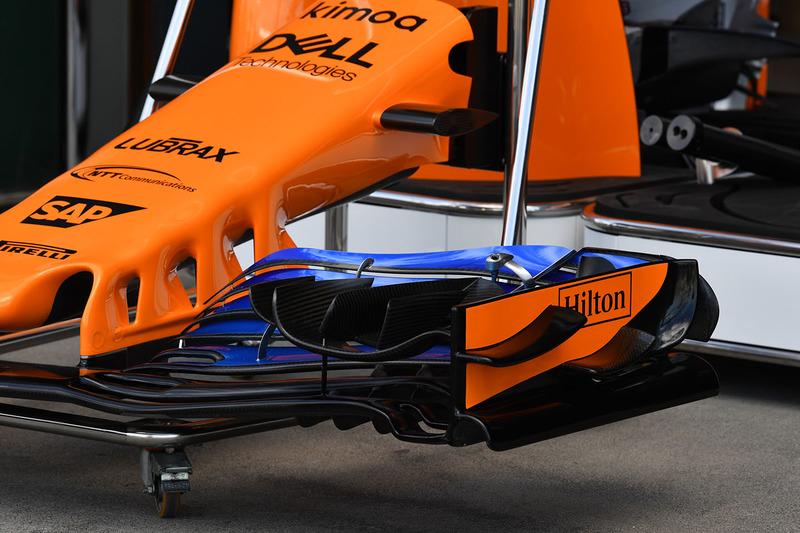 McLaren MCL33, dettaglio dell'ala anteriore