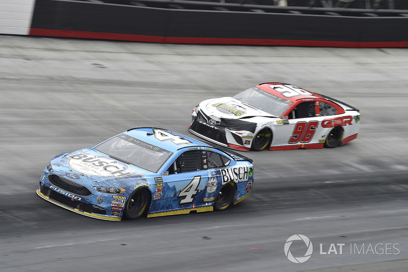 Kevin Harvick, Stewart-Haas Racing, Ford Fusion Busch Beer, D J Kennington, Gaunt Brothers Racing, Toyota Camry, Gaunt Brothers Racing