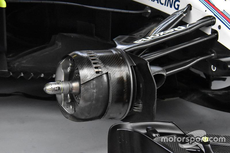 Freno delantero del Williams FW41