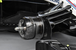 Le frein avant d'une Williams FW41