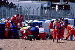 Crash: Michael Schumacher, Ferrari F399