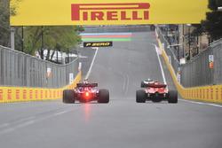 Sebastian Vettel, Ferrari SF71H and Pierre Gasly, Scuderia Toro Rosso STR13