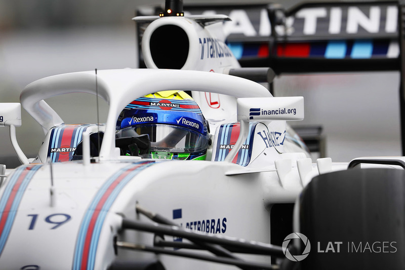 Felipe Massa, Williams FW38 Mercedes, con el Halo