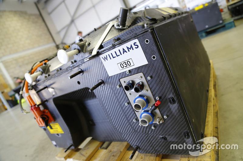 威廉姆斯公司为Formula E赛车所提供的电池
