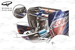 L'aileron arrière de la Toro Rosso STR11, à Sotchi