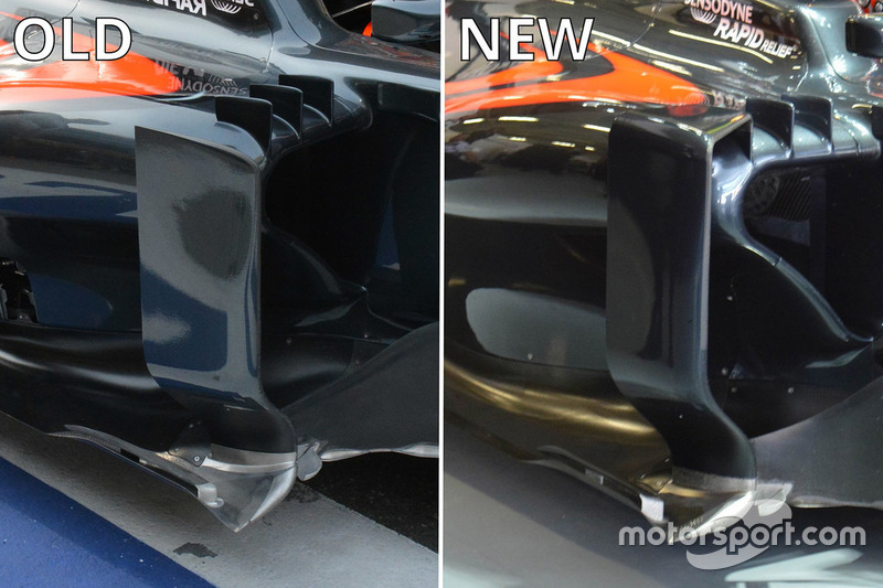 McLaren MP4-31, Seitenkästen-Vergleich