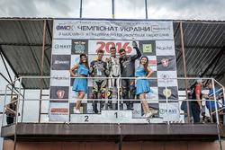 Подіум, склас Суперсток 600: Переможець Дмитро Багрянцев, друге місце Микита Калінін, третє місце Леонід Каллаш