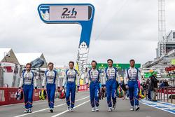 #36 Signatech Alpine A460: Gustavo Menezes, Nicolas Lapierre, Stéphane Richelmi and #35 Baxi DC Racing Alpine A460 Nissan: David Cheng, Ho-Pin Tung, Nelson Panciatici