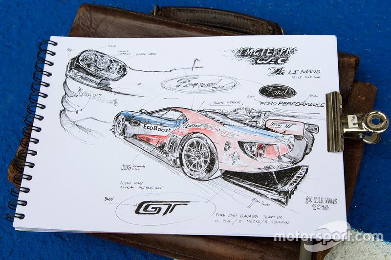 Жан-Марі Гіварш розмальовує Ford Chip Ganassi Racing Ford GT