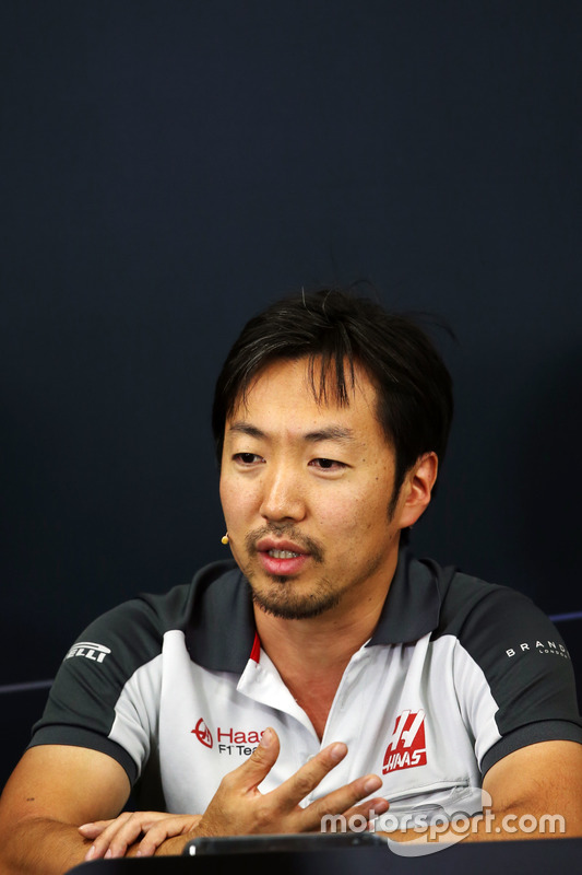Ayao Komatsu, Haas F1 Team Race Engineer in the FIA Press Conference
