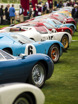 A row of Ford GT40