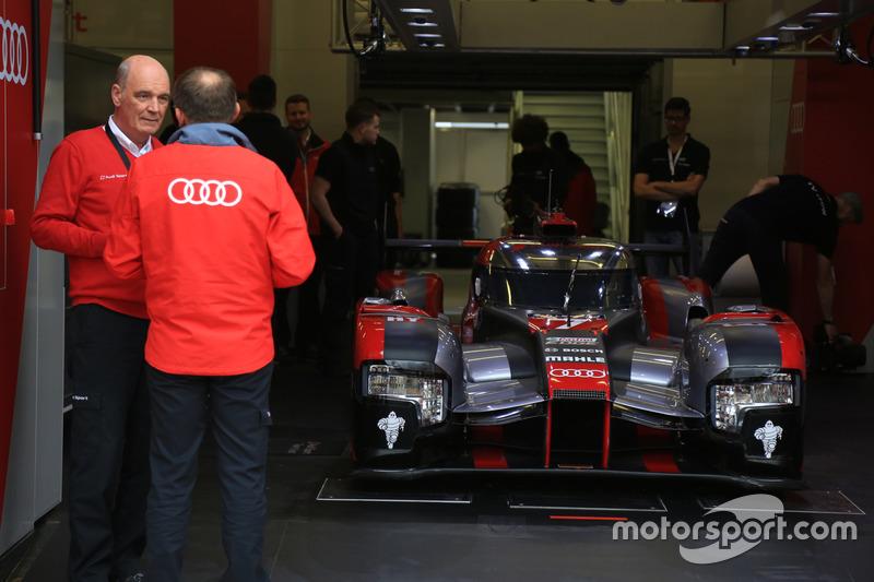 #7 Audi Sport Team Joest Audi R18 dan Dr. Wolfgang Ullrich, Head of Audi Sport