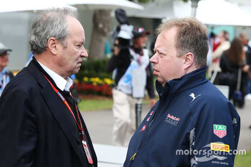 Jerome Stoll, Renault Sport F1 Başkanı ve Andy Palmer, Aston Martin CEO