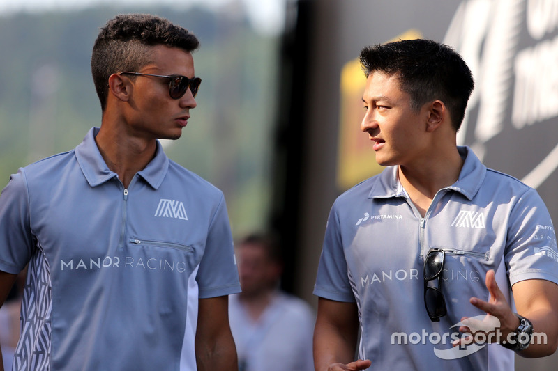 Pascal Wehrlein, Manor Racing and Esteban Ocon, Manor Racing