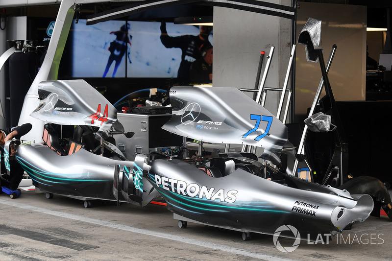 La carrocería del Mercedes-AMG F1 W09