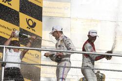 Podium: Marco Wittmann, BMW Team RMG, BMW M4 DTM, Stefan Reinhold, Team principal BMW Team RMG and René Rast, Audi Sport Team Rosberg, Audi RS 5 DTM