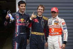 Pole de Sebastian Vettel, Toro Rosso, Mark Webber, Red Bull Racing, Heikki Kovalainen, McLaren