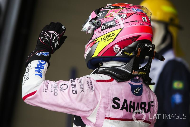 Sergio Perez, Force India, Parc Ferme