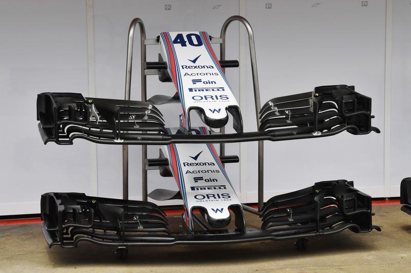 Williams FW41 burun ve ön kanat