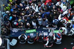 #1 Rebellion Racing Rebellion R-13: Andre Lotterer, Neel Jani, Bruno Senna and #3 Rebellion Racing Rebellion R-13: Mathias Beche, Gustavo Menezes, Thomas Laurent