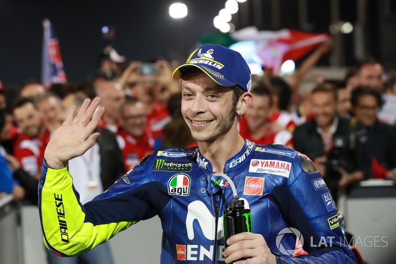 Valentino Rossi ficou com a terceira colocação.