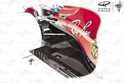 Ferrari SF71H fondo plano GP Gran Bretaña
