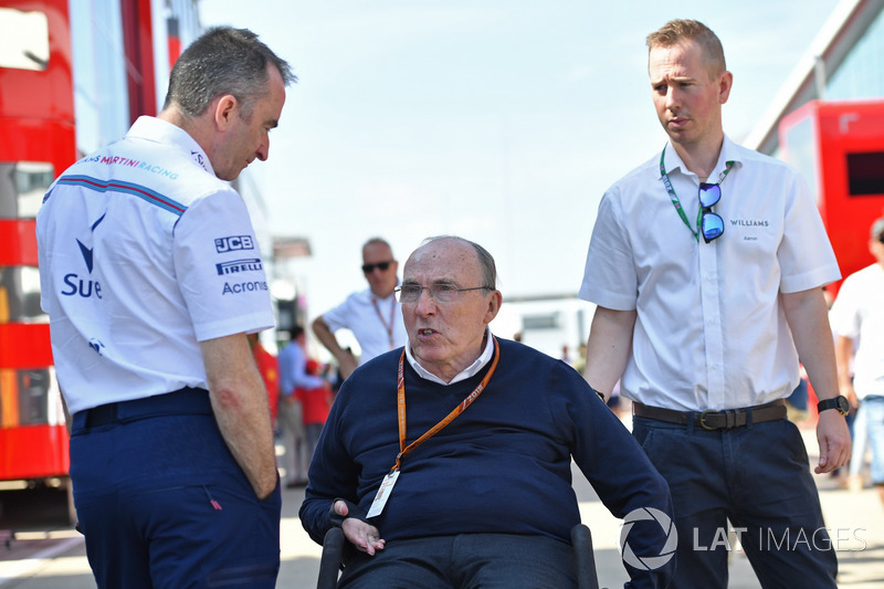 Paddy Lowe, Williams, y Frank Williams, propietario del equipo