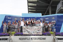 Penske 200th win celebration