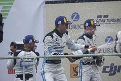 Podium: #4 Mercedes-AMG Team Black Falcon Mercedes-AMG GT3: Maro Engel, Adam Christodoulou, Manuel Metzger, Dirk Müller