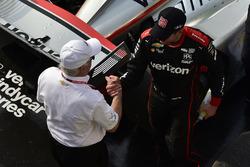 Roger Penske and Will Power, Team Penske Chevrolet celebrate the win in Victory Lane
