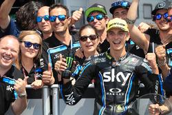 Third place Luca Marini, Sky Racing Team VR46