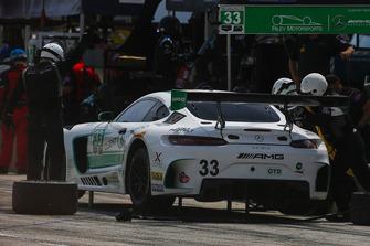 #33 Riley Motorsports Mercedes AMG GT3, GTD - Jeroen Bleekemolen, Ben Keating, Pit Stop