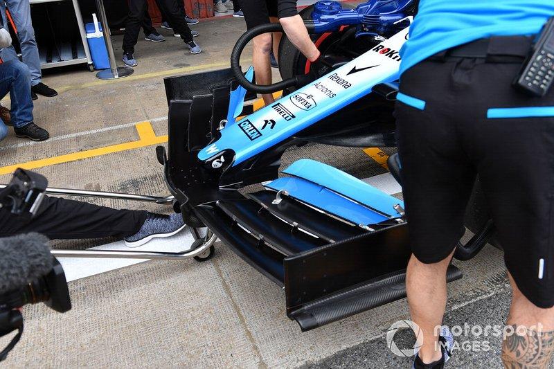 Detalle de alerón y nariz delantera Williams FW42.
