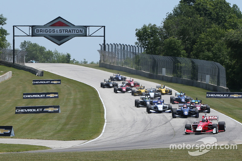 Start: Zach Veach, Belardi Auto Racing lider