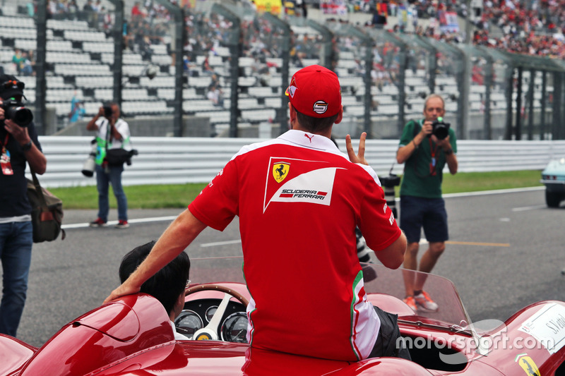 Sebastian Vettel, Ferrari on the drivers parade