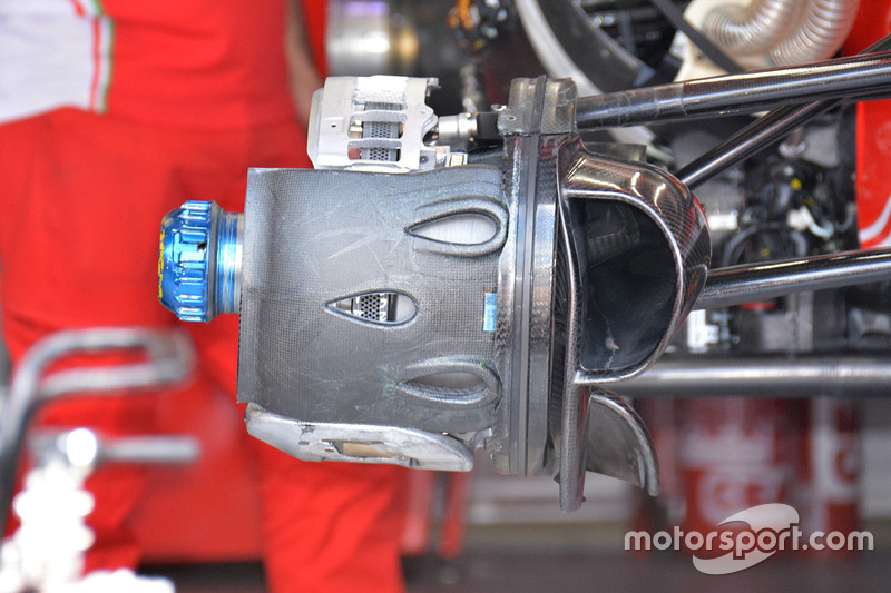 Ferrari SF16-H front brake ducts detail