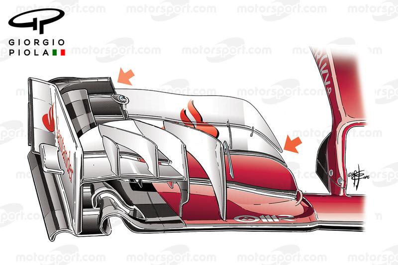 Ferrari SF16H front wing, Baku GP