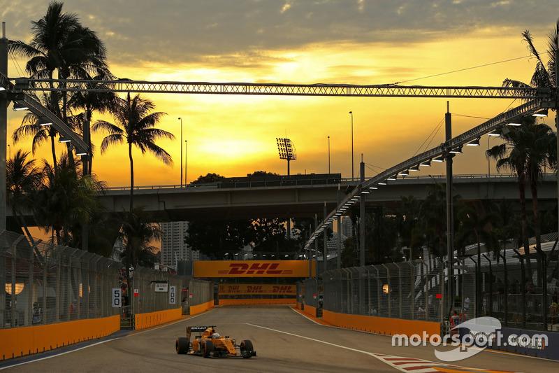 Sonnenuntergang in Singapur