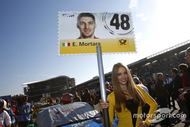 Chica de la parrilla de Edoardo Mortara, Audi Sport Team Abt Sportsline, Audi RS 5 DTM.