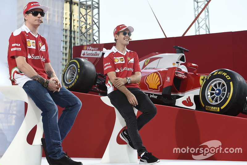 Kimi Raikkonen, Ferrari and Kimi Raikkonen, Ferrari