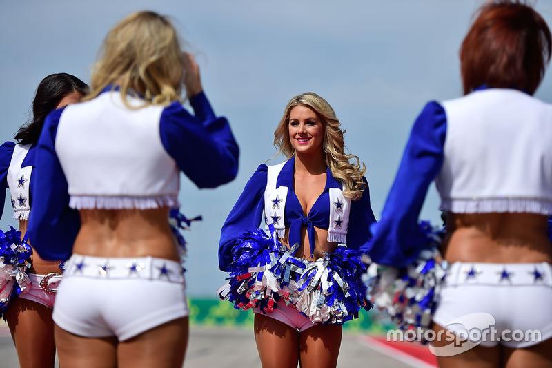 Cheerleaders der Dallas Cowboys