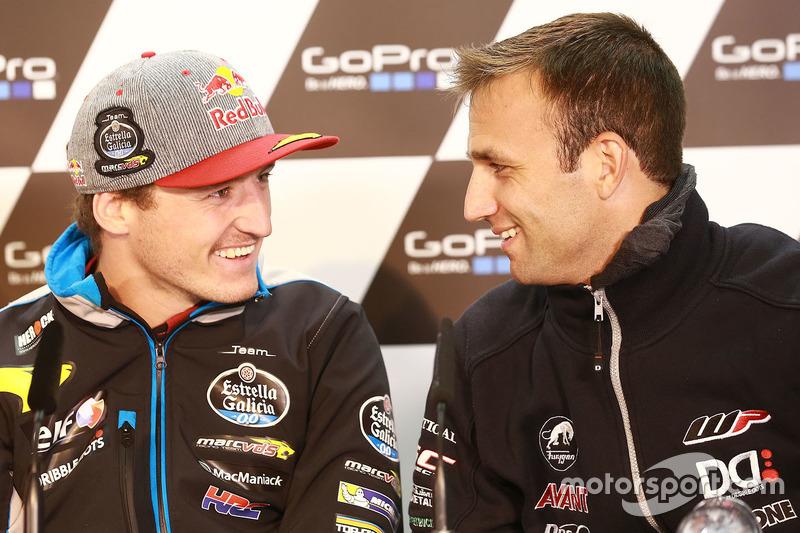 Jack Miller, Marc VDS Racing, Honda; Johann Zarco, Ajo Motorsport